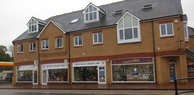 Wessex Cancer Trust shop front