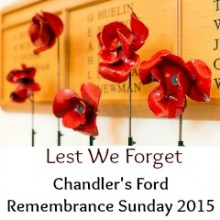 Remembrance Sunday in Chandler's Ford: 8 November 2015