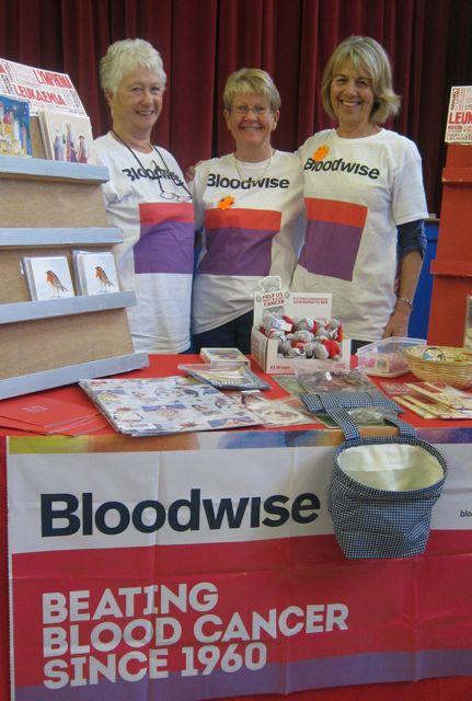 Bloodwise volunteers: Linda, Linda, and Caroline (left).