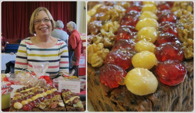Diane Pugh and the delicious Christmas cakes that she made.