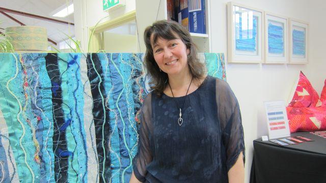 Anita Van Den Broek, mixed media textile artist.