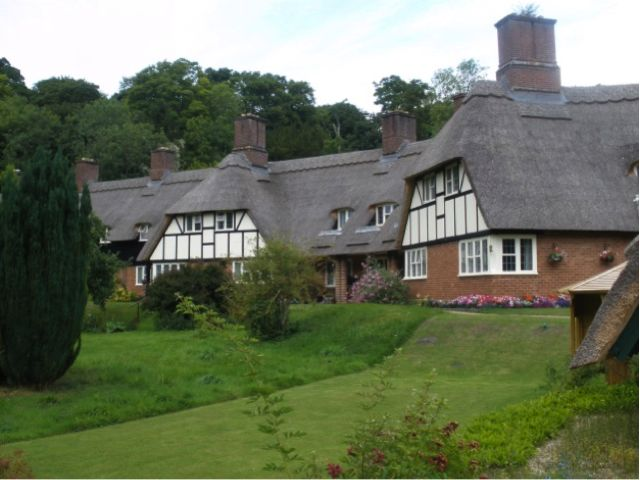 Laverstoke Mill thatched cottages
