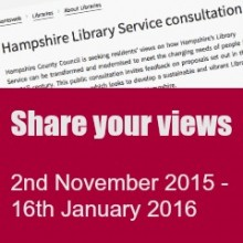 Hampshire Library Consultation: Have your Say