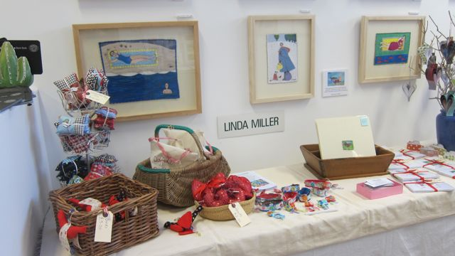 Linda Miller's display. The Sorting Office Winter Open Studios 2015.