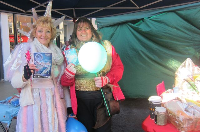 "<a href=""http://mountbattenplayers.co.uk/"">Mountbatten Players</a> are promoting their upcoming production, Cinderella. 2015 Eastleigh Christmas Market"