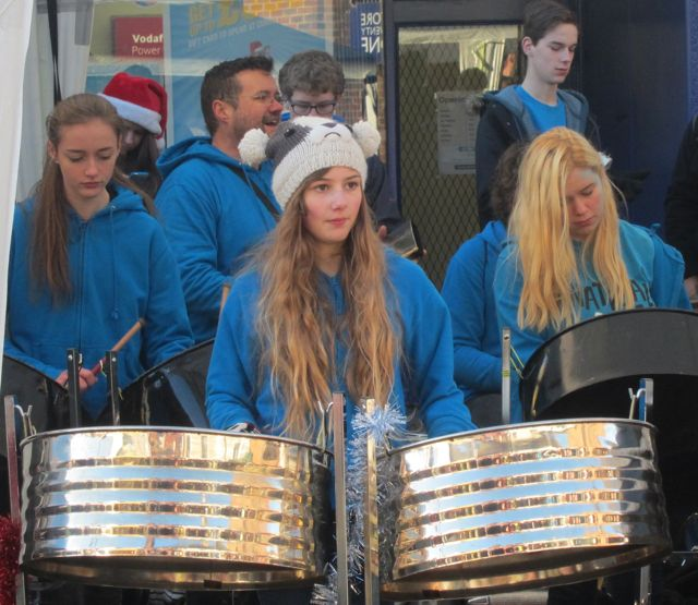 Panatical playing Eastleigh Christmas Market Nov 2015