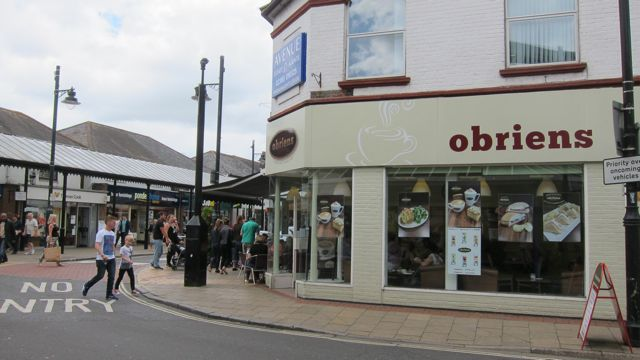 obriens, another coffee shop in Eastleigh town.
