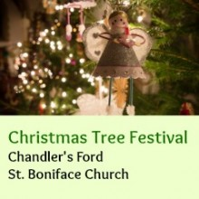 Christmas Tree Festival at Chandler's Ford St. Boniface Church