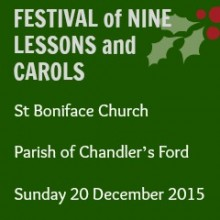 The Nine Lessons and Carols Service at St. Boniface Church: Sunday 20 December 2015