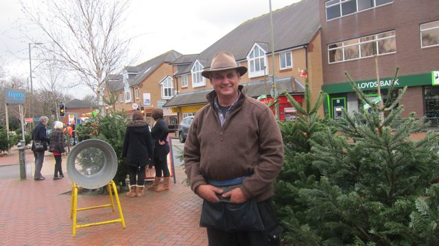 Jimmy Peters: selling Christmas trees at Fryern Arcade for 24 years.