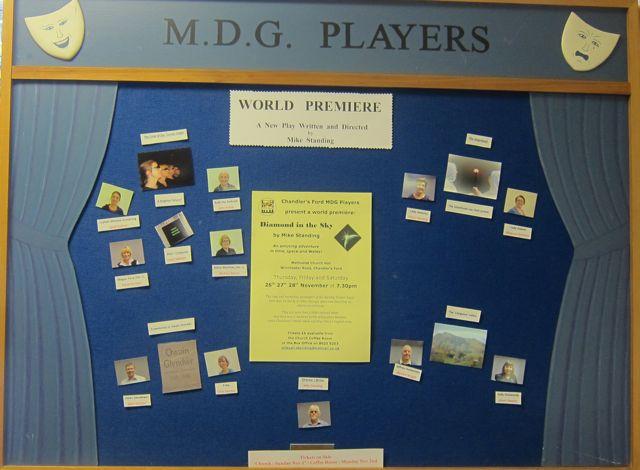 MDG Players board Methodist Church Diamond in the Sky