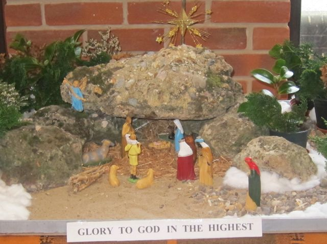 The Nativity display at Dovetail Centre, Chandler's Ford Methodist Church.