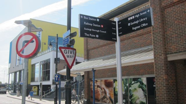 New signs in Eastleigh town
