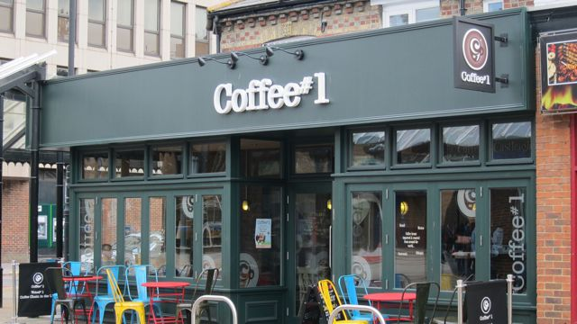 One of many coffee shops in Eastleigh.