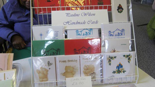 Handmade cards by Pauline Wilson.