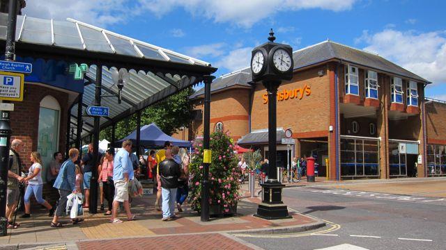 Sainbury's in Eastleigh town.