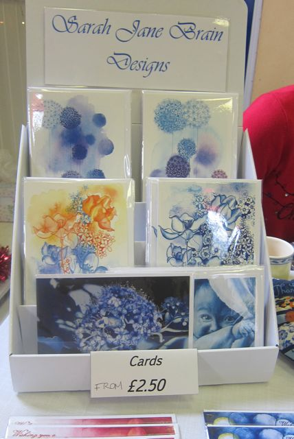 Handmade cards by Sarah Jane Brain.