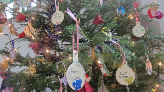 Christmas tree by the Afternoon Guild - showing a wide range of their activities.