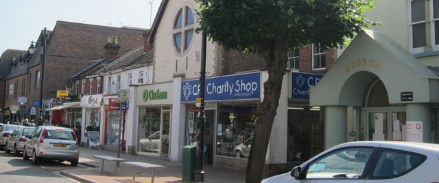 Eastleigh town has many charity shops.