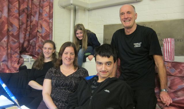 Aladdin - pantomime performed by Chandler's Ford Chameleon Theatre Company, January 2016. The technical team is led by Lionel Elliott.