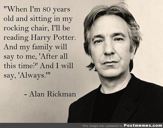 Alan Rickman and Harry Potter via Flicker - Post Memes