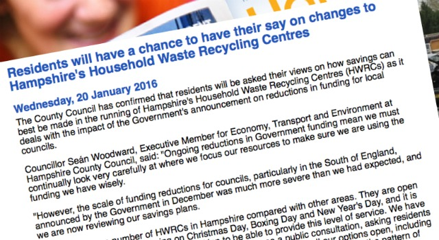 Hampshire Household Waste info