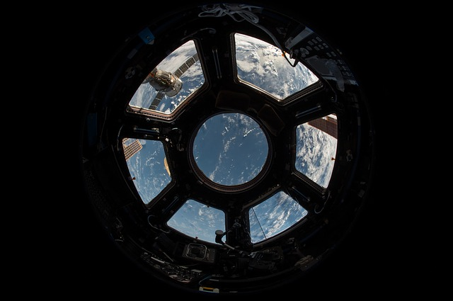 Looking out of an ISS window - via Pixabay