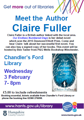 Meet the author Claire Fuller Chandler's Ford Library