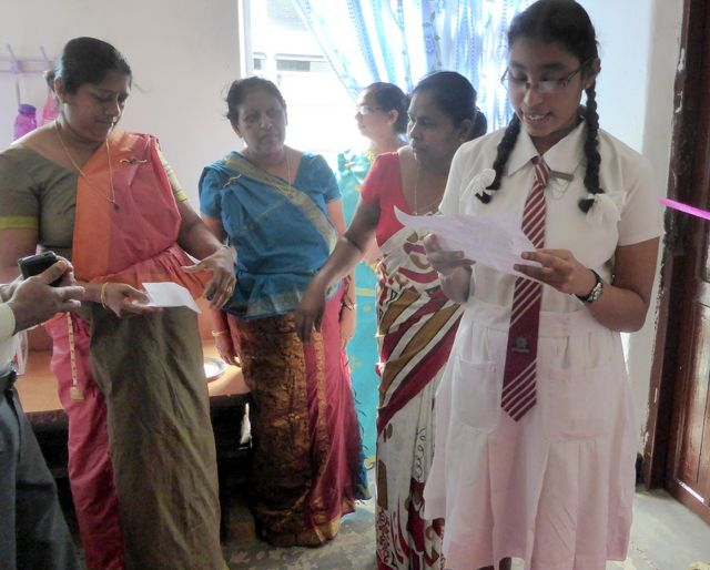 School girl Sri Lanka speech