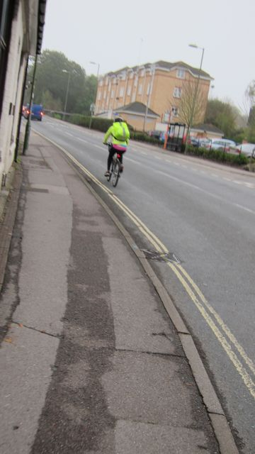 Cyclist Hursley Road