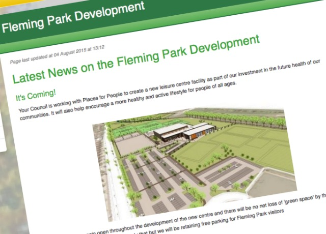 Click to read latest news on the Fleming Park Development.