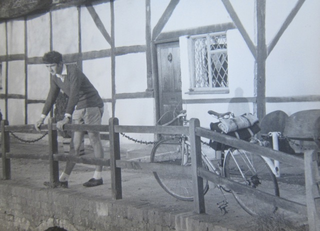 Martin Napier at the Fulling Mill, Alresford - late 1960s.