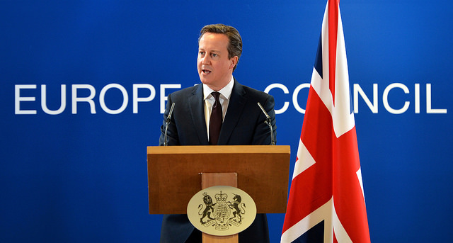 PM addressing the European Council. Image by Arron Hoare via Flickr.