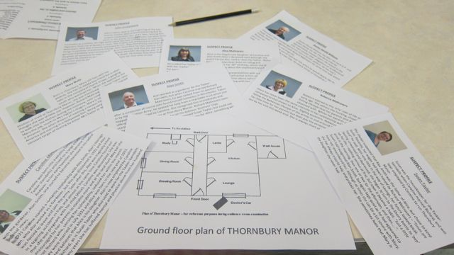 Ground floor plan Sudden Death Thornbury Manor MDG Playes Chandler's Ford 2016