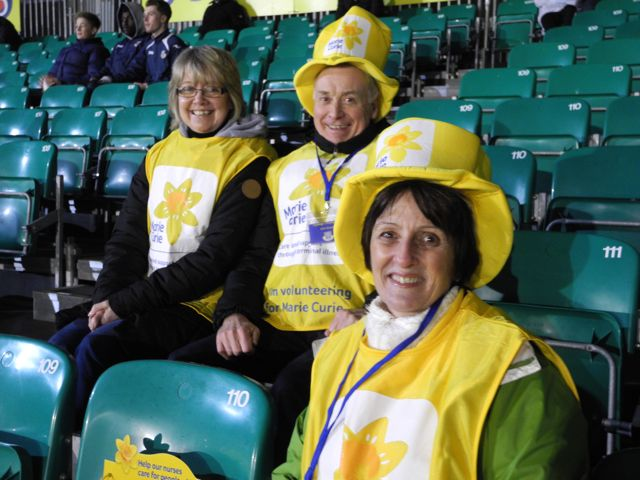 Hilary Course, John Course and Carole Bright , Eastleigh and Chandlers Ford Fundraising Group for Marie Curie.