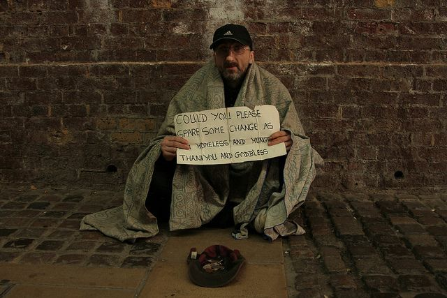 "Homeless. Image by <a href=""https://www.flickr.com/photos/slrjester/6272470480/"">Jack</a> via Flickr."