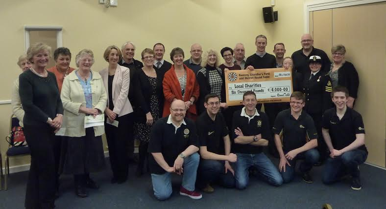 Romsey, Chandler's Ford and District Round Table donate £6,000 to local good causes.