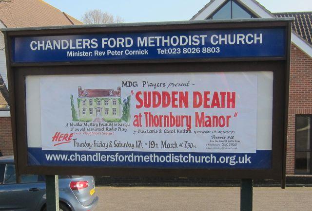 Sudden Death Thornbury Manor banner