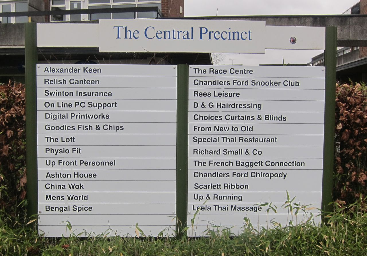 Central Precinct new sign 2016 spring