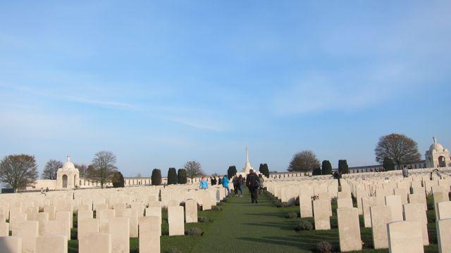 Tyne Cot Cemetery, Belgium school trip.