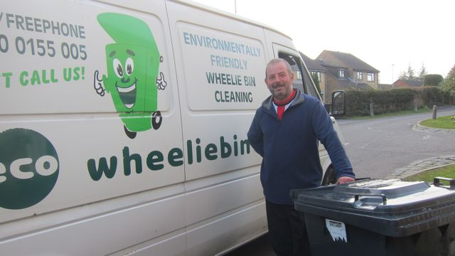 Adam cleaned my well loved wheelin bin.