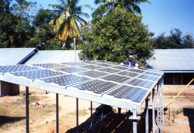 Solar panels for Liuli from Chandler's Ford parish
