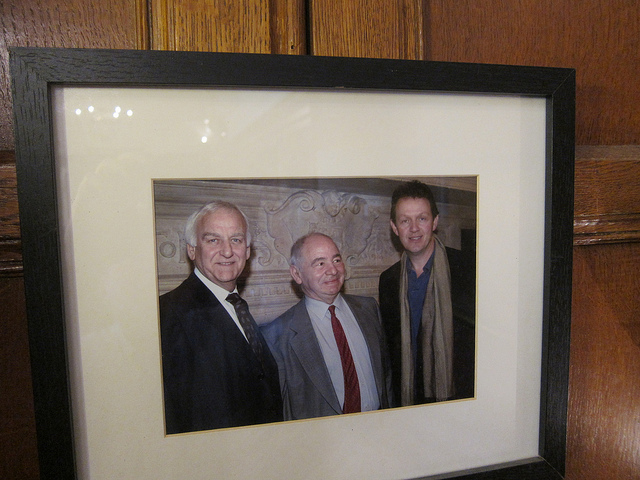 John Thaw, Colin Dexter and Kevin Whateley - image by Jay Cross via Flickr
