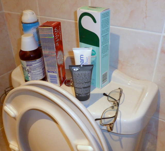 Don't lose your specs down the loo.