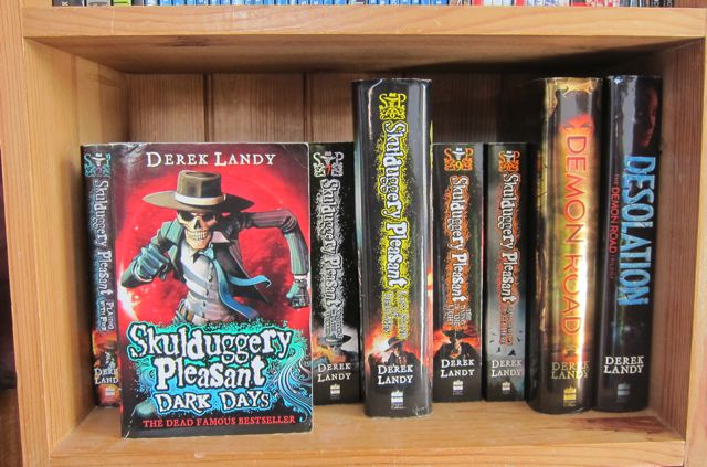 Skulduggery Pleasant books I have