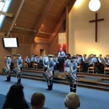 """The Spitfires 14th Eastleigh Scout and Guide Band """"The Spitfires"""" 2016 St George's Day concert Chandler's Ford Methodist Church."""