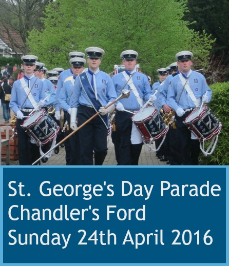 St. George's Day Parade Chandler's Ford Sunday 24th April 2016