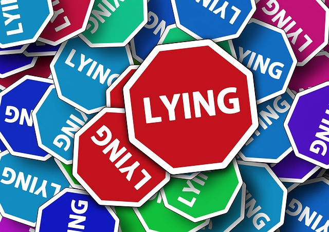 What Scammers do - Lying - image via Pixabay