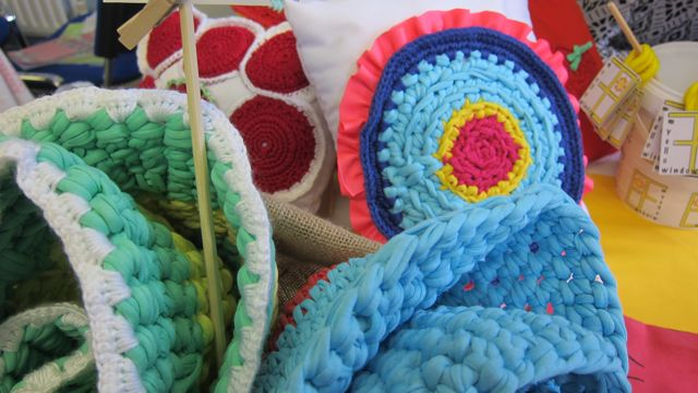 Bright crochet designs by Silvana Baez from myellowindow.