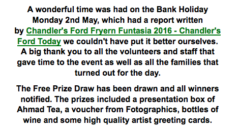 Chandler's Ford Today Fryern Funtasia 2016 report